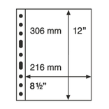 Лист к альбому Leuchtturm, Grande 2x1 карман 216 х 306 мм, черный, 1S. 333555