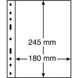 Лист к альбому Leuchtturm, Optima, 2x1 делений по 180 x 245 мм, черный, 1S.326667