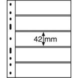 Лист к альбому Leuchtturm, Optima, 2x5 делений по 180 x 42 мм, черный, 5S. 333229