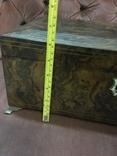 Большая шкатулка из карельской берёзы, царизм, фото №12