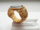 Римский перстень с геммой . Инталия .I-II век., фото №7