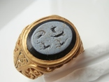 Римский перстень с геммой . Инталия .I-II век., фото №11