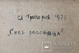 "Пейзаж ""Снег Растаял"" С.Григорьев СССР 1978 (Нар.Худ.), фото №8"