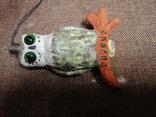 Сова филин папье-маше игрушка елочная photo 4