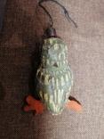 Сова филин папье-маше игрушка елочная photo 5