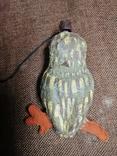 Сова филин папье-маше игрушка елочная photo 6