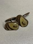 Запонки со вставкой перламутра, фото №3