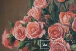 Букет роз. 30х30 см. Картина маслом. Ю. Смаль photo 3