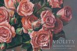 Букет роз. 30х30 см. Картина маслом. Ю. Смаль photo 4