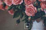 Букет роз. 30х30 см. Картина маслом. Ю. Смаль photo 6