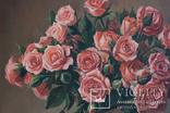 Букет роз. 30х30 см. Картина маслом. Ю. Смаль photo 8