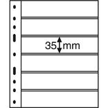Лист к альбому Leuchtturm, Optima, 2x6 делений по 180 x 35 мм, черный, 6S.316995
