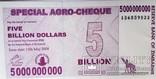 Зимбабве 5 000 000 000 доллара 2008 г photo 1