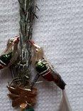 Елочная игрушка ГДР птички на ветке, фото №5
