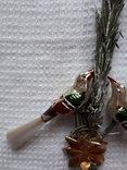 Елочная игрушка ГДР птички на ветке, фото №6