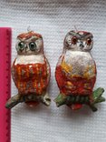 Елочная игрушка две совы филина цена за оба, фото №2