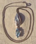 Фирменный кулон, серебро, камни., фото №3