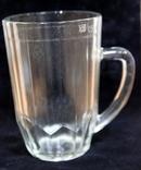Пивной бокал  (пивная кружка) САЗ. 1966 год. 0,5 литра.20  прямых граней, фото №4