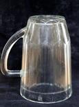 Пивной бокал  (пивная кружка) САЗ. 1966 год. 0,5 литра.20  прямых граней, фото №8