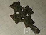 Крест К.Р. (Криновидный, с солярными знаками прорезной) 10-11век, фото №4