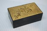 Коробочка с объемным рисунком Пион. Китай 1957г, фото №2