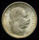 Австрия флорин 1876 Unc серебро