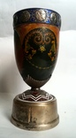 Кубок Кремль Палех Авторская роспись М. Парилов 1953г, фото №6