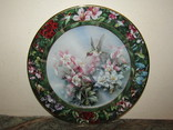 Настенная декоративная тарелка фарфор Колибри Lena Liu's