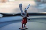 "Воїн з крилами ""штам М 132"" 8 см. висота. 91 гр. вага., фото №11"
