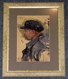 Волошин Г. С. Мужской портрет, картон, масло