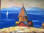 """Троян Г. """"Озеро Севаш"""" 1987р., 50 на 64,5 см., фото №2"""