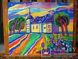 Суботівська церква, усипальниця Б.Хмельницького, полотно, олія, 50Х40, 2018 photo 4