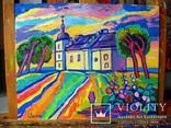 Суботівська церква, усипальниця Б.Хмельницького, полотно, олія, 50Х40, 2018 photo 5