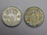 2 монеты по 50 оре, Швеция photo 2