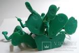 Фигурки индейцев .Производства СССР, ДЗИ ( в зелёном цвете , без повтора )., фото №3