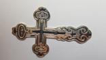 Крест нательный серебро 84 проба. Чернь, штихель. В реставрацию. Вес 5.76., фото №5