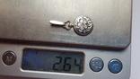 Советский подвес серебро 875 проба. Чернь. Вес 2.67 г., фото №7