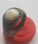 Кольцо с белой вставкой photo 1