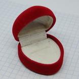 Футляр для кольца или сережек. Сердце, фото №2