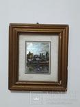 Старая картина из Италии, рамка на реставрацию. похожа на печать photo 1