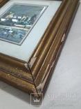 Старая картина из Италии, рамка на реставрацию. похожа на печать photo 3