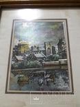 Старая картина из Италии, рамка на реставрацию. похожа на печать photo 4