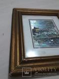 Старая картина из Италии, рамка на реставрацию. похожа на печать photo 5