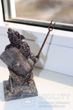 "Воїн в шоломі з кабана ""висота 10 см. вага 324 гр. "", фото №6"