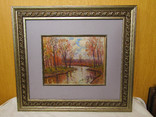 Картина Осінь на річці Коломие 2002г. В.Гнипа, фото №2