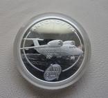 Антонов 74 Ан-74 серебро 999` 31,1г. Острова Кука Елизавета II 2008 г., фото №2