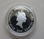 Антонов 74 Ан-74 серебро 999` 31,1г. Острова Кука Елизавета II 2008 г., фото №3