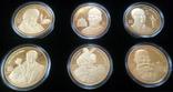 Шість монет з золотим покриттям