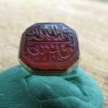Османский Серебряный перстень печатка с надписью photo 2