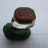 Османский Серебряный перстень печатка с надписью photo 3